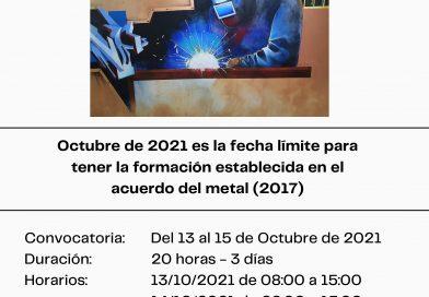 Curso de formación C4 OPERARIO DE SOLDADURA Y OXICORTE